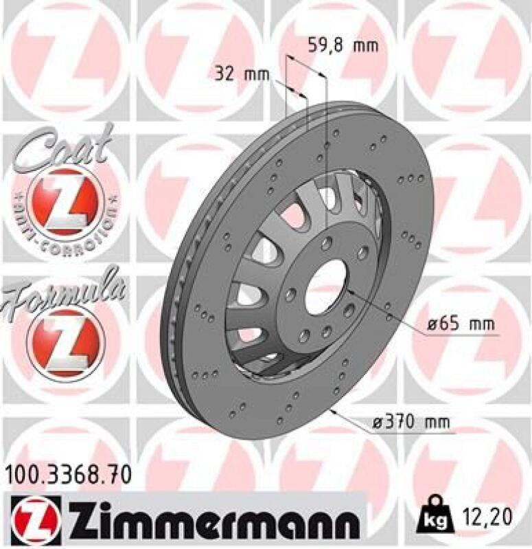 ZIMMERMANN Brake Disc FORMULA Z BRAKE DISC