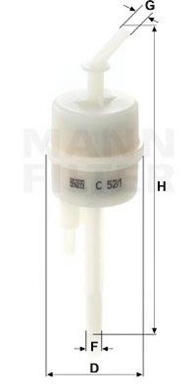 MANN-FILTER Filter, Entlüftung-Kraftstoffbehälter