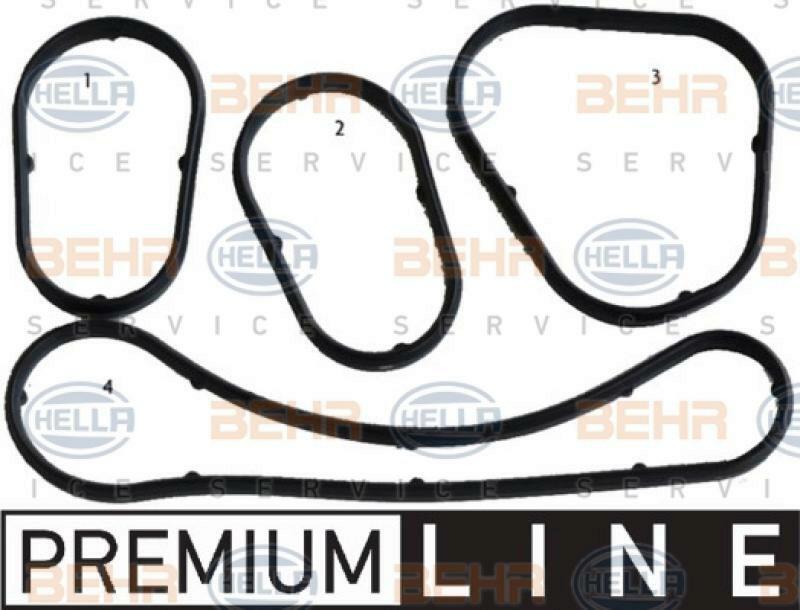 HELLA Dichtungssatz, Ölkühler BEHR HELLA SERVICE *** PREMIUM LINE ***