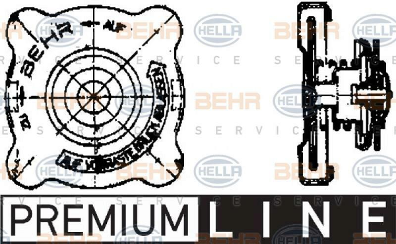 HELLA Verschlussdeckel, Kühlmittelbehälter BEHR HELLA SERVICE *** PREMIUM LINE ***