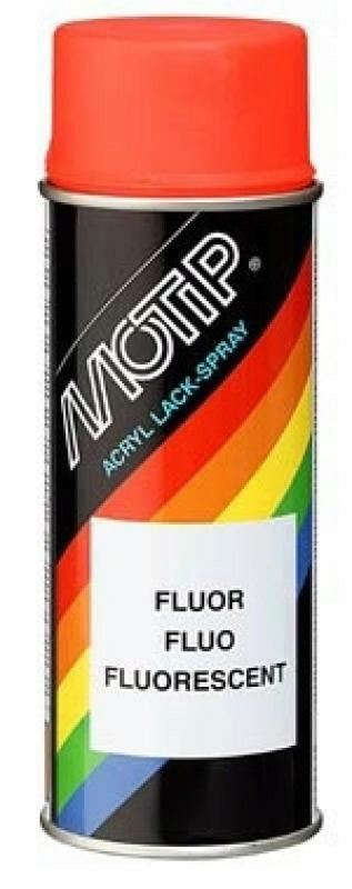 MOTIP Effektlack Flourspray rot/orange 400ml