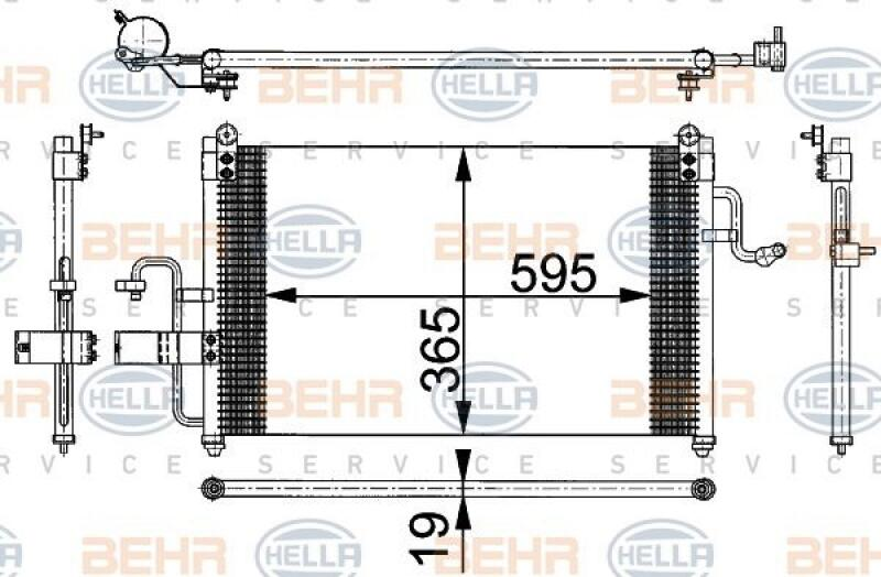 HELLA Kondensator, Klimaanlage