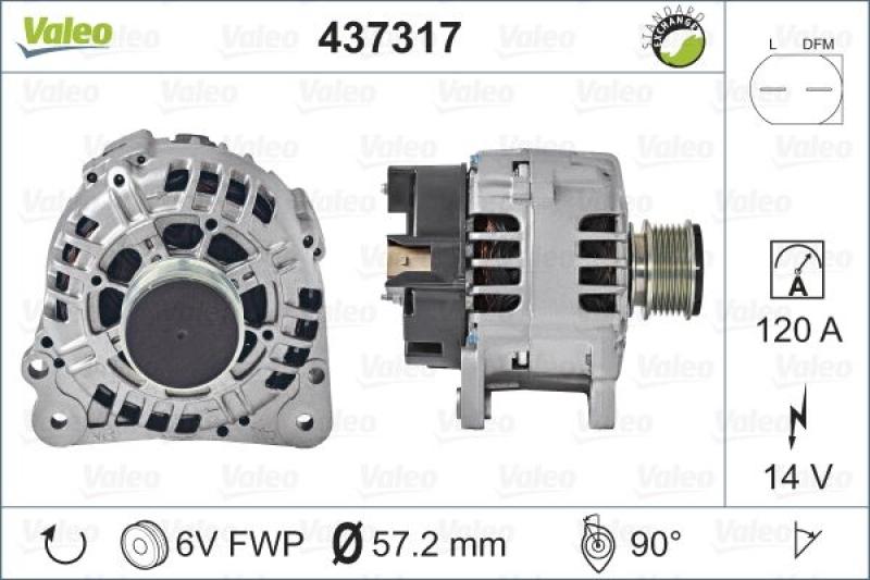 VALEO Generator VALEO RE-GEN REMANUFACTURED