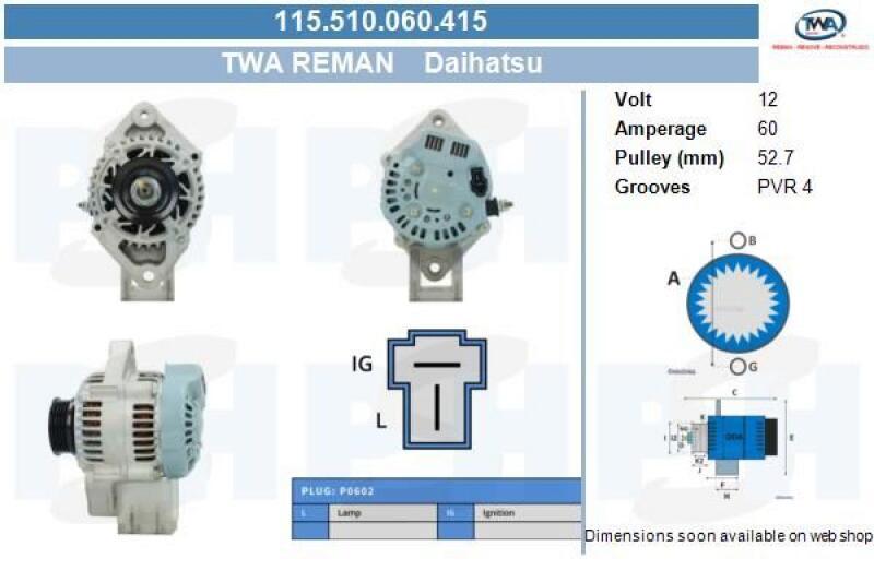 HERTH+BUSS JAKOPARTS Anlasser 12V 1,0 kW DAIHATSU CHARADE COPEN CUORE MOVE
