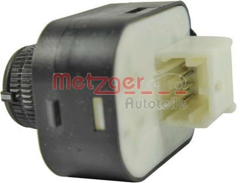 METZGER Schalter, Spiegelverstellung Original Ersatzteil
