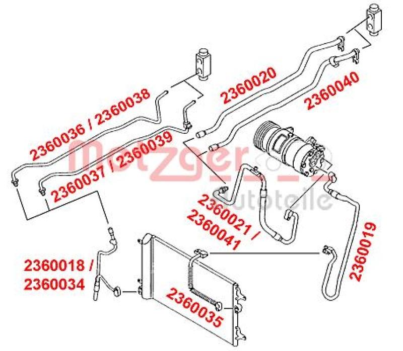 METZGER Hochdruck-/Niederdruckleitung, Klimaanlage