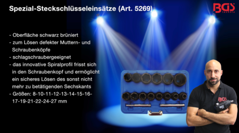 BGS Steckschlüsselsatz 5269